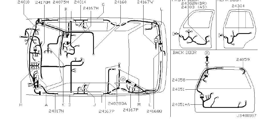 INFINITI QX4 Harness Body, L. (Left). ENGINE, FITTING