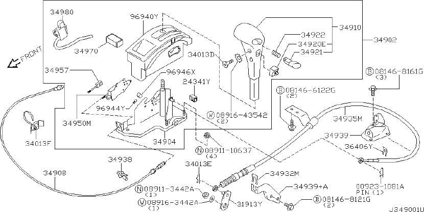 INFINITI QX4 Shift Interlock Solenoid. TRANSMISSION, AUTO
