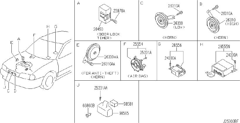 INFINITI G20 Amplifier Auto Power Window. CAL, FED