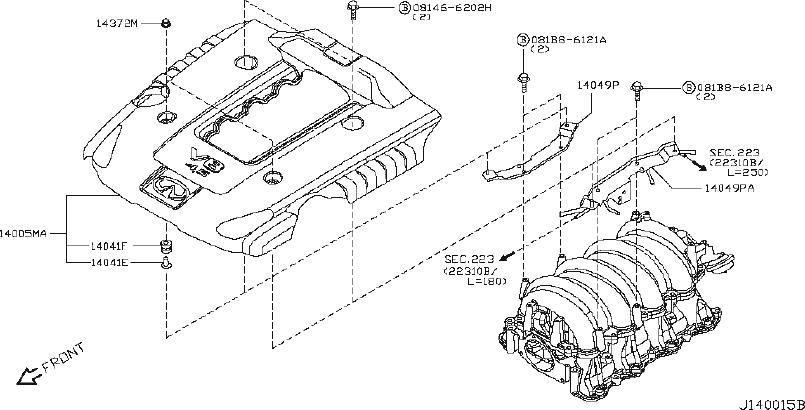INFINITI FX35 Exhaust Manifold Heat Shield. ENGINE, COVER