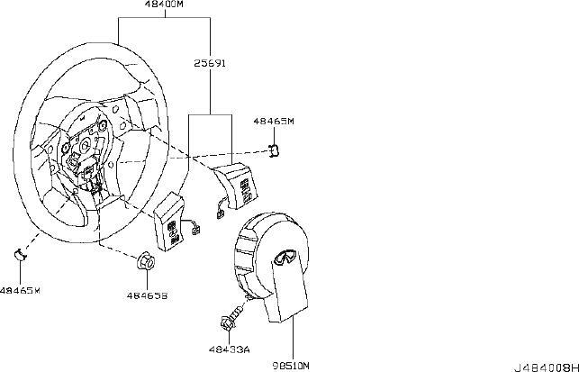 INFINITI FX35 Steering Wheel. ADAPTIVE, CRUISE, CONTROL