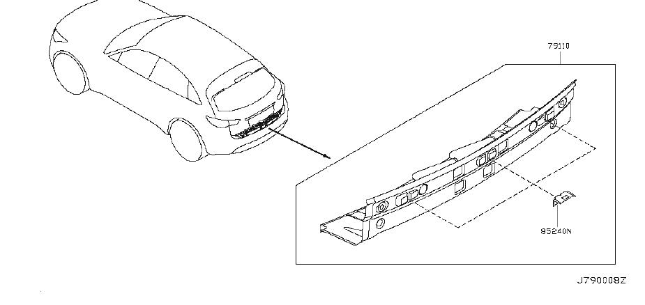 INFINITI FX35 Rear Body Reinforcement (Rear, Upper