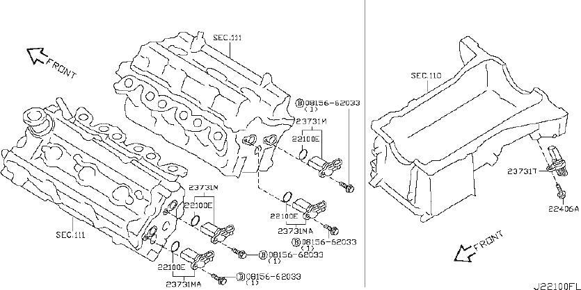 INFINITI G35 Engine Camshaft Position Sensor. DISTRIBUTOR
