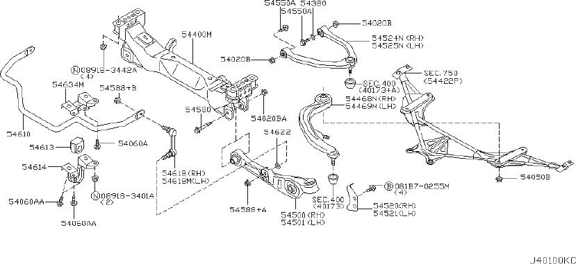 INFINITI G35 Suspension Stabilizer Bar (Front). MEMBER
