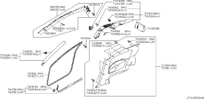 INFINITI G35 Body A-Pillar Trim Panel (Left, Front