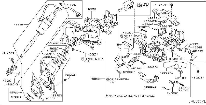 INFINITI G35 Steering Column (Upper). JOURNEY, POWERED