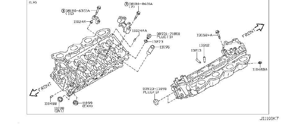 INFINITI M45 Bolt Engine Slinger. COMPONENT, ASSEMBLY