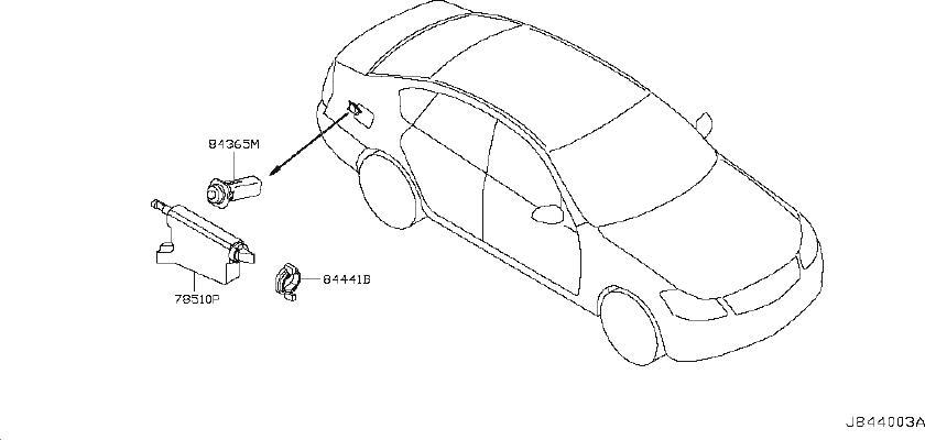 INFINITI M35 Actuator Fuel Lid Opener. WAG, CNV, SED