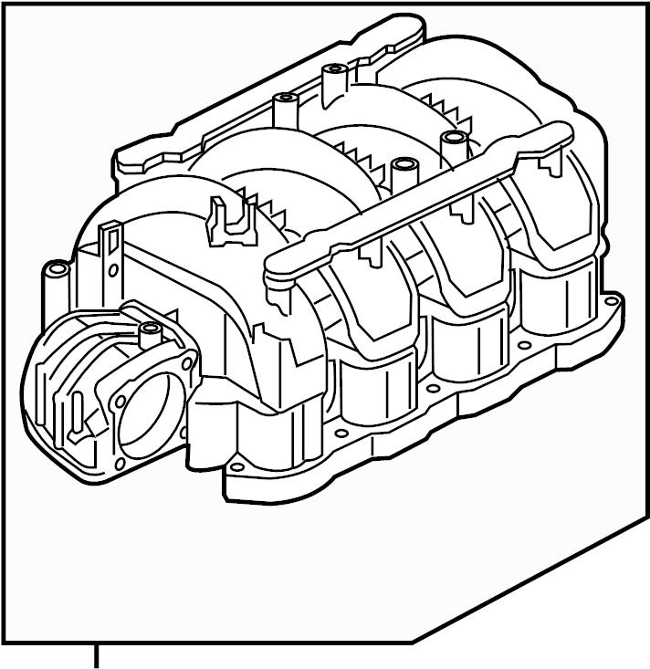 INFINITI QX56 Engine Intake Manifold. EXHAUST, COVER