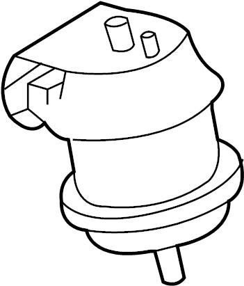 INFINITI G35 Engine Mount (Front). MOUNTING, TRANSMISSION