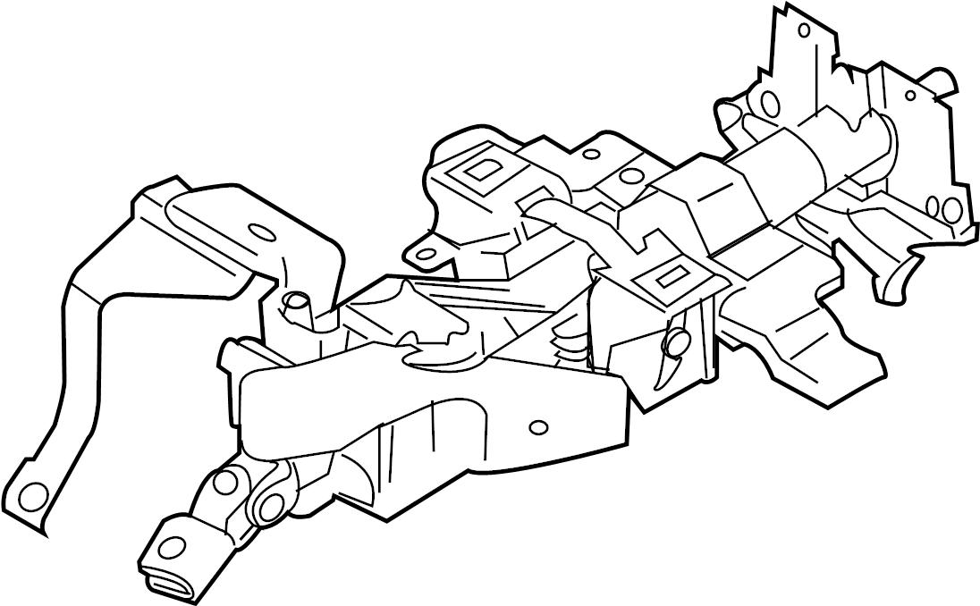 INFINITI G37X Steering Column (Upper). JOURNEY, POWERED