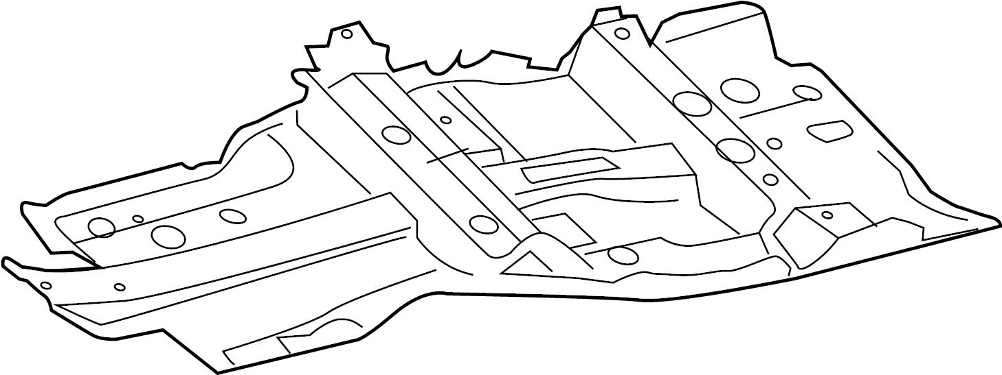INFINITI FX35 Floor Pan (Right, Front). Trim, PANEL