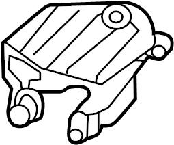 INFINITI JX35 Bracket Engine Mounting. Replacement Motor