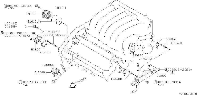 INFINITI I30 Engine Coolant Temperature Sensor. CUPE