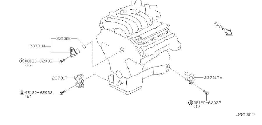 INFINITI I30 Engine Crankshaft Position Sensor. REF