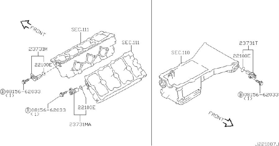 INFINITI I35 Engine Camshaft Position Sensor. DISTRIBUTOR