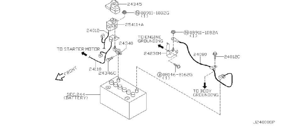 INFINITI I35 Harness Alternator. ENGINE, ROOM, FITTING