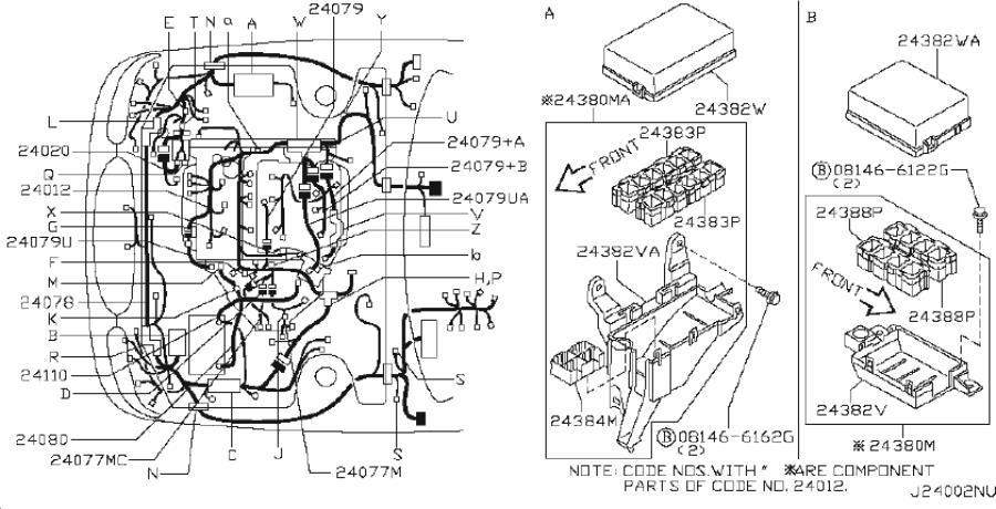 INFINITI I35 Harness EGI SUB (Position Sensor). FITTING