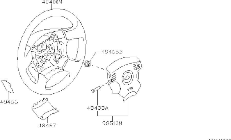 INFINITI I30 Module Air Bag, Driver. STEERING, WHEEL