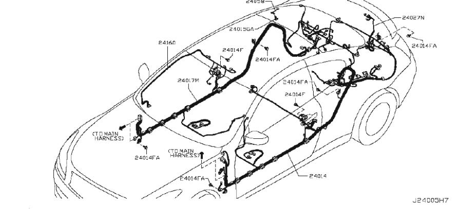 INFINITI G37 Engine Wiring Harness. ROOM, BODY, EGI