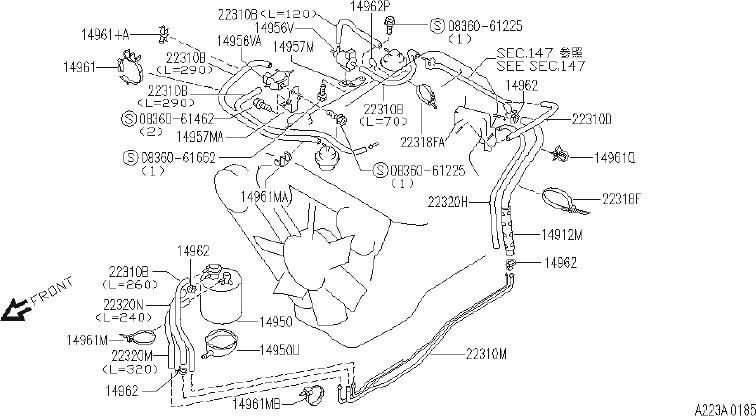 INFINITI G35 Clip Wiring Harness. Retainer Boot. (Upper