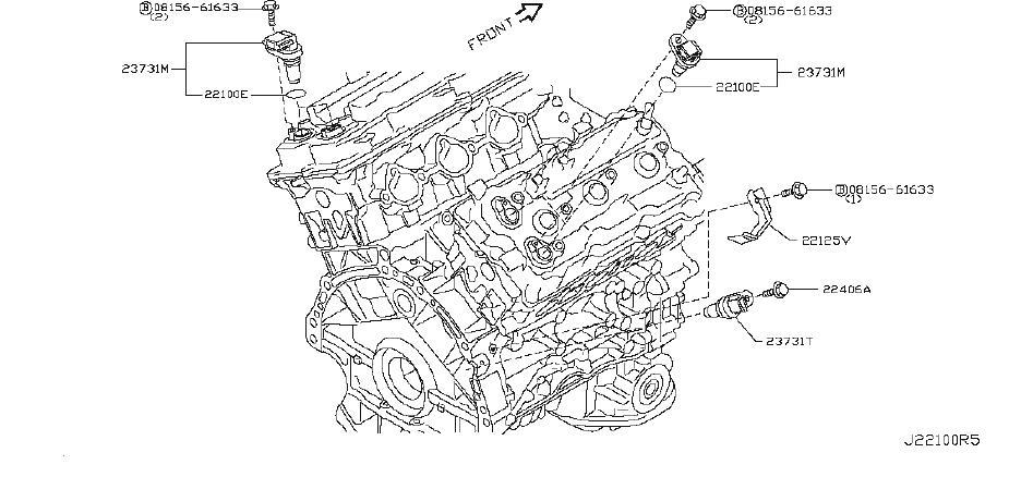 INFINITI EX35 Engine Crankshaft Position Sensor. CAM