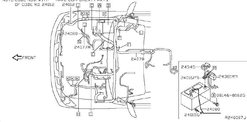 INFINITI QX56 Fuse Box Cover. FITTING, ENGINE, ROOM