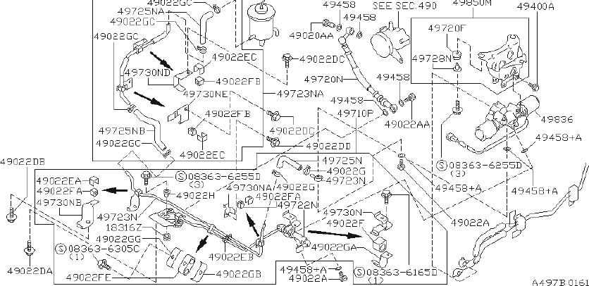 INFINITI J30 Power Steering Pressure Hose Insulator