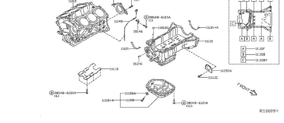 INFINITI JX35 Engine Crankshaft Seal (Rear). ASSEMBLY