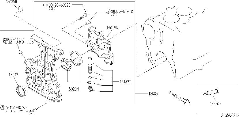 INFINITI G20 Engine Crankshaft Seal (Front). NDK, SELECT