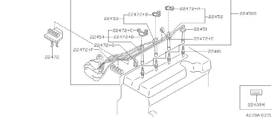 INFINITI G20 Spark Plug Wire Set. SUMITOMO, YAZAKI, SYSTEM