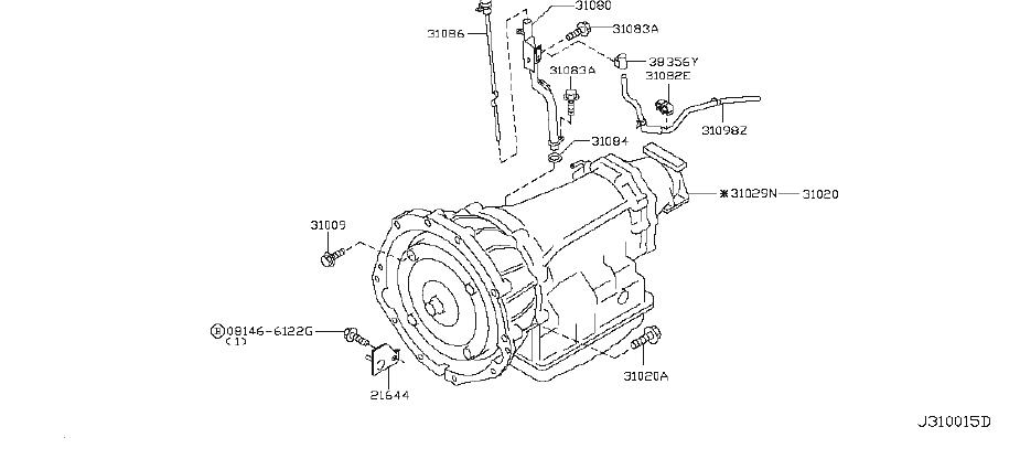 INFINITI G35 Automatic Transmission Case Vent. REDUCTION
