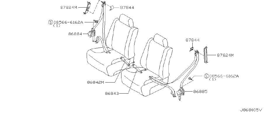 INFINITI M45 Seat Belt Lap And Shoulder Belt (Right, Front
