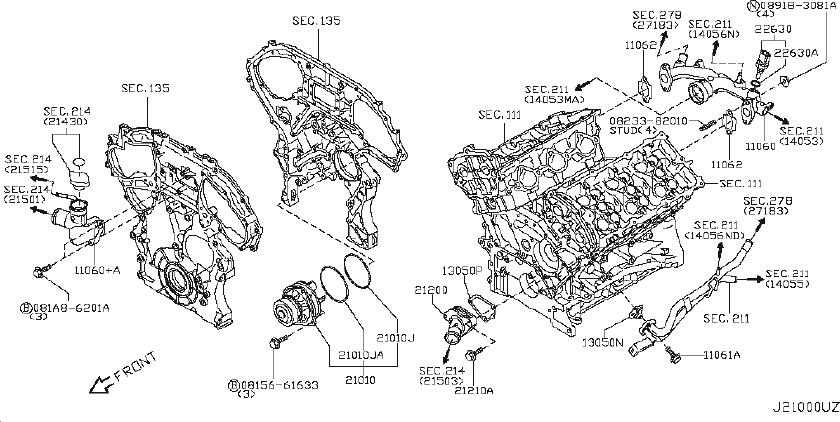 INFINITI M35 Engine Coolant Thermostat Kit. COOLING