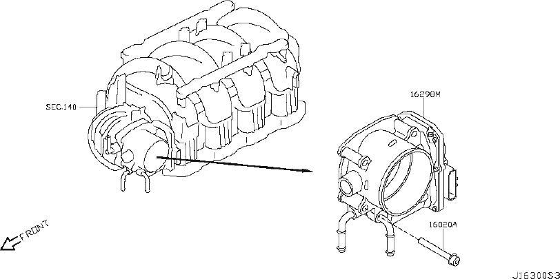 INFINITI QX56 Fuel Injection Throttle Body. CHAMBER