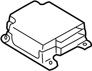 1997 INFINITI QX4 Air Bag Control Module. BODY, ROOM