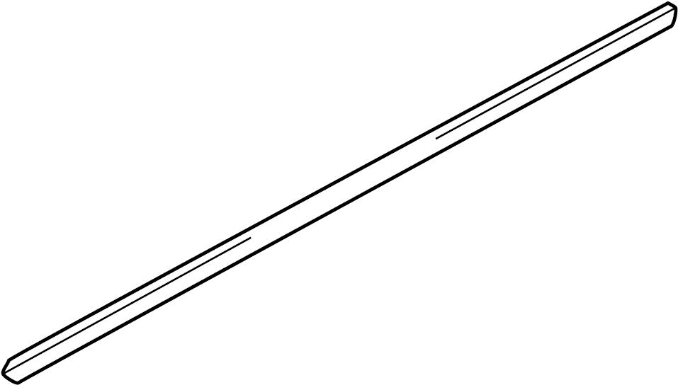 2003 INFINITI QX4 Door Window Belt Weatherstrip (Right