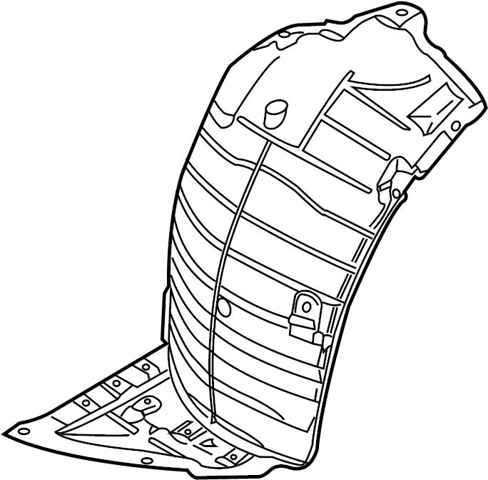 2008 INFINITI G35 Fender Splash Shield (Right, Front