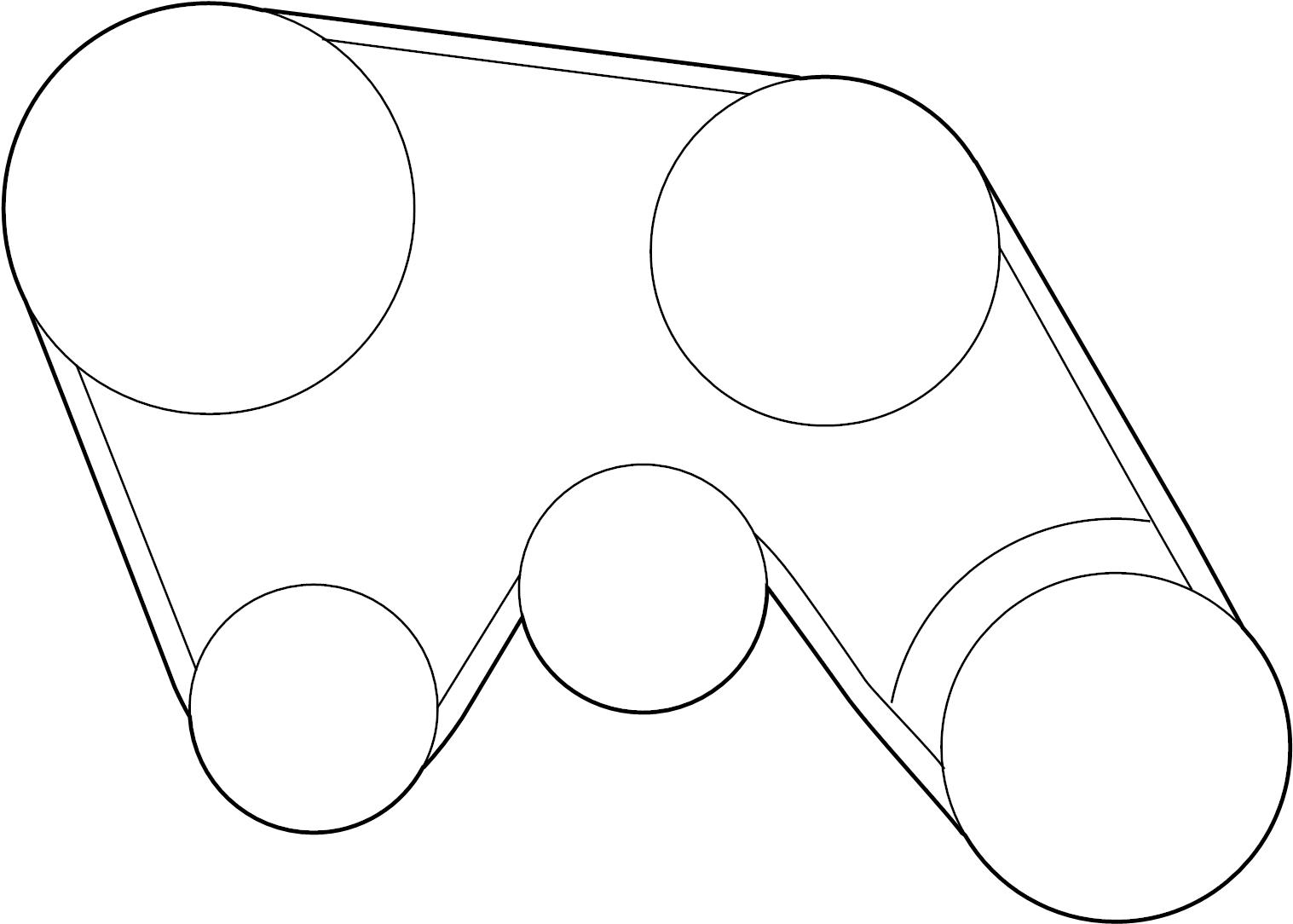 2007 INFINITI G35 Serpentine Belt. COMPRESSOR, POWER, FAN