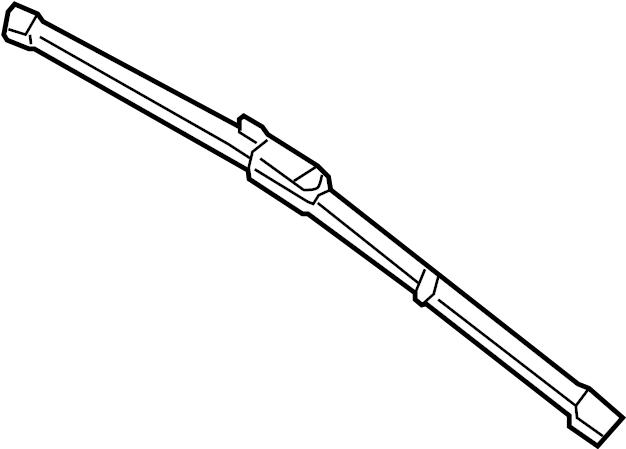 2013 INFINITI QX60 Blade Windshield Wiper No 1. DRIVER