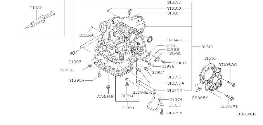 2001 INFINITI I30 Coupe SEDAN T/PACK Pan Oil. HOUSING