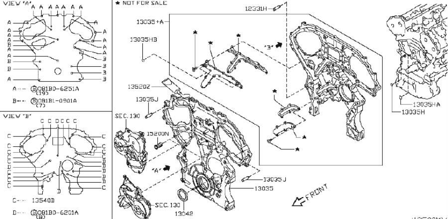 2009 INFINITI G37 COUPE SPORT/P Engine Timing Cover (Front