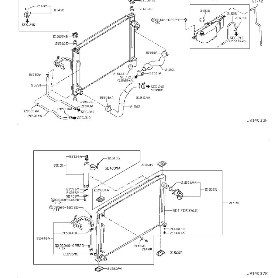2010 INFINITI G37 COUPE SPORT Radiator Coolant Hose