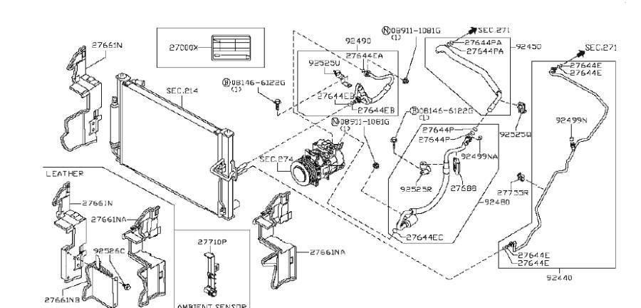 2009 INFINITI G37 COUPE BASE Grommet Dash. WAG, CNV