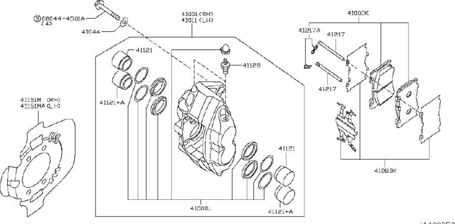 2009 INFINITI G37 COUPE SPORT/P Disc Brake Caliper Piston