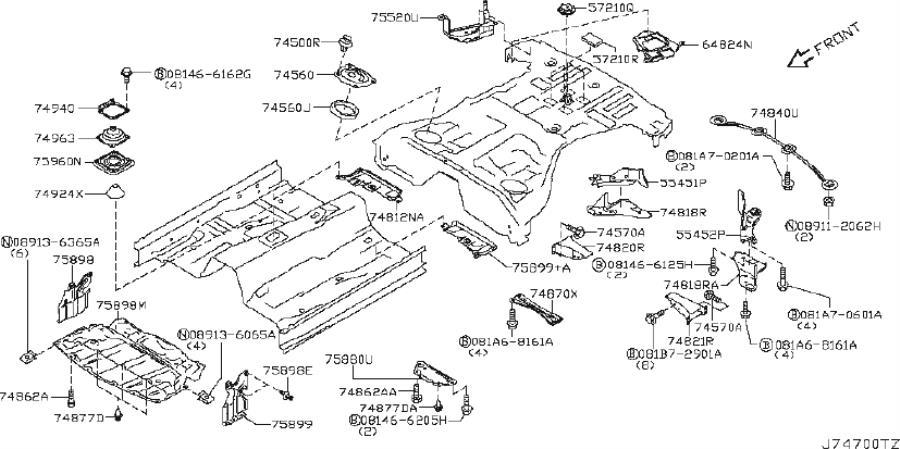 2010 INFINITI G37 Suspension Subframe Reinforcement