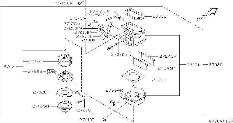 INFINITI Q45 Hvac Blend Door Actuator. UNIT, BLOWER