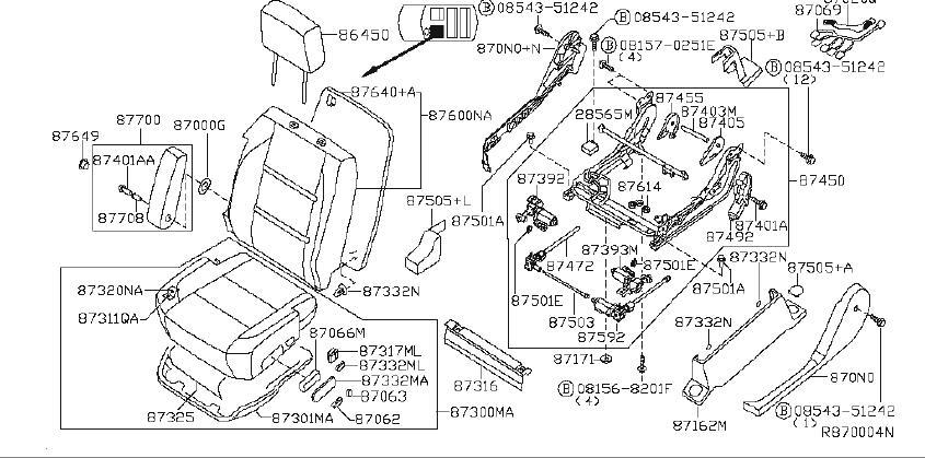 2008 INFINITI Power Seat Switch Bezel. SAB, NON, MANUAL