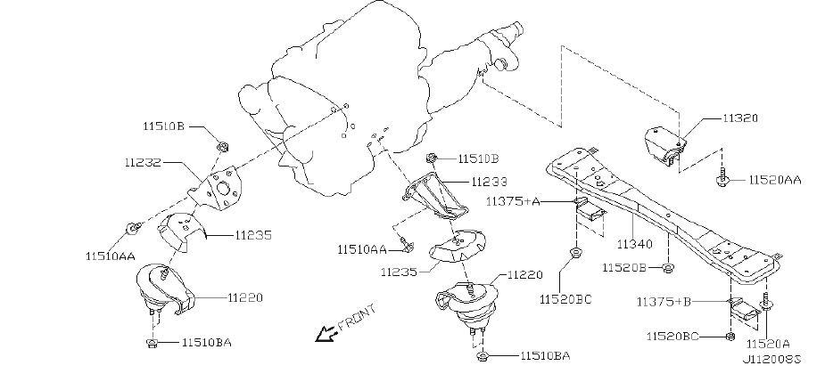 2013 INFINITI Automatic Transmission Vibration Absorber