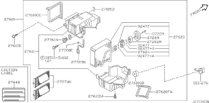 1992 INFINITI A/c evaporator core insulator. Aircon